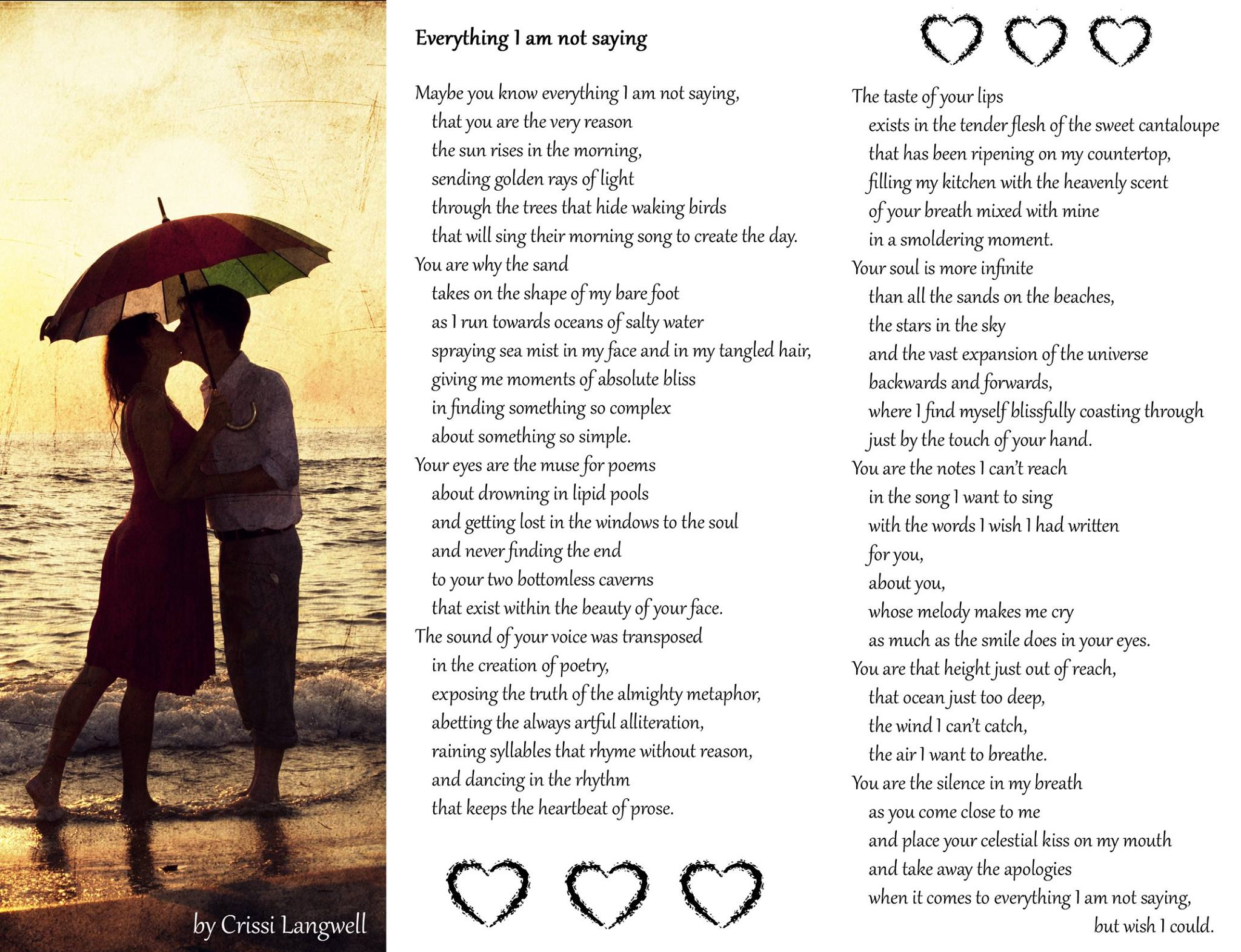 Love Day Poem Just For You 3 Crissi Langwell