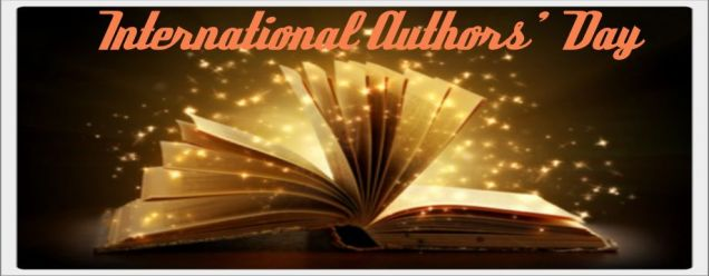 international authors day banner
