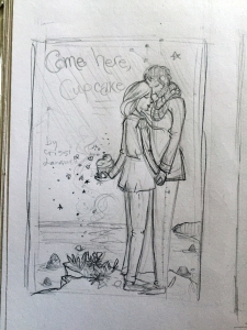 My very first glimpse of what CHC's cover was going to look like. I may have squealed when I saw it for the first time...